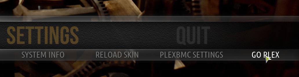 Activa PleXBMC desde el submenú de ajustes