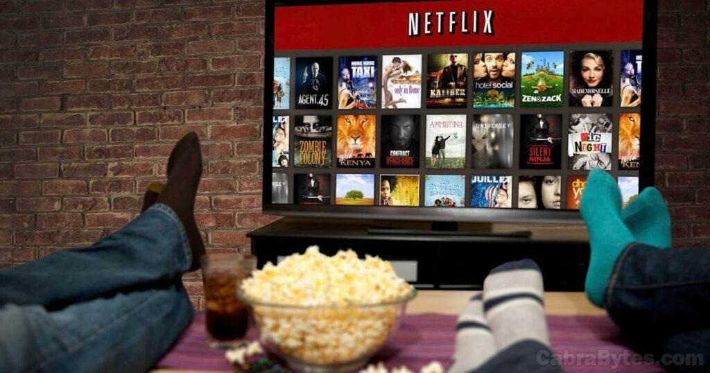 Servicio de video en demanda Netflix.