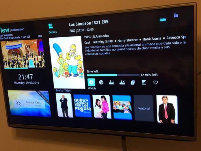 Captura de una TV con Cablevisión Flow.
