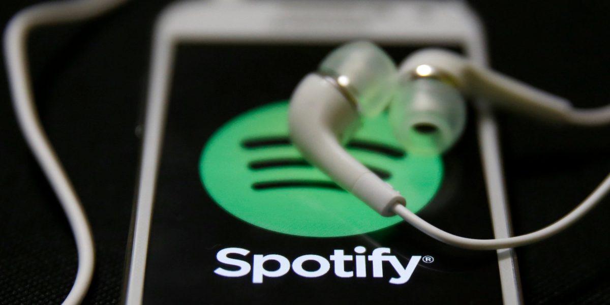 Spotify, el servicio de música por streaming.