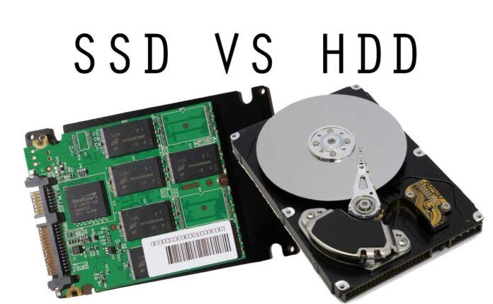 Disco rígido (HDD) y uno de estado sólido (SSD)