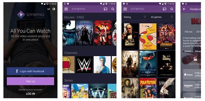 Captura de pantalla de Stremio para Android. Foto: El Destaque