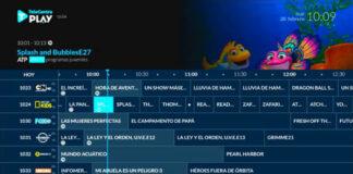 Grilla de programación de Telecentro. Foto: Telecentro