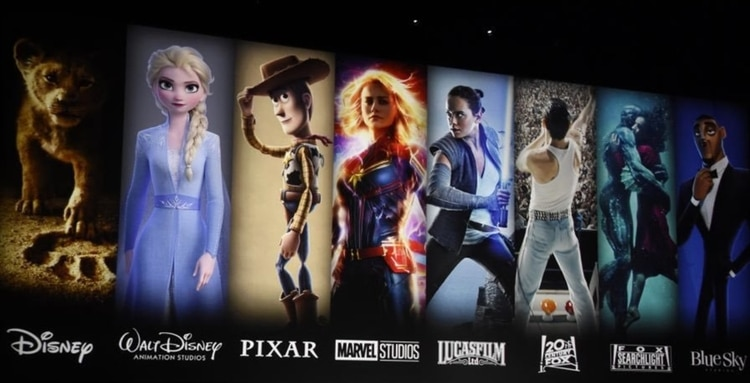 Disney Plus: Pixar, Marvel, Fox, Lucasfilm. Foto: Twitter