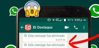 Mensajes eliminados de WhatsApp. Foto: Web / EL DESTAQUE