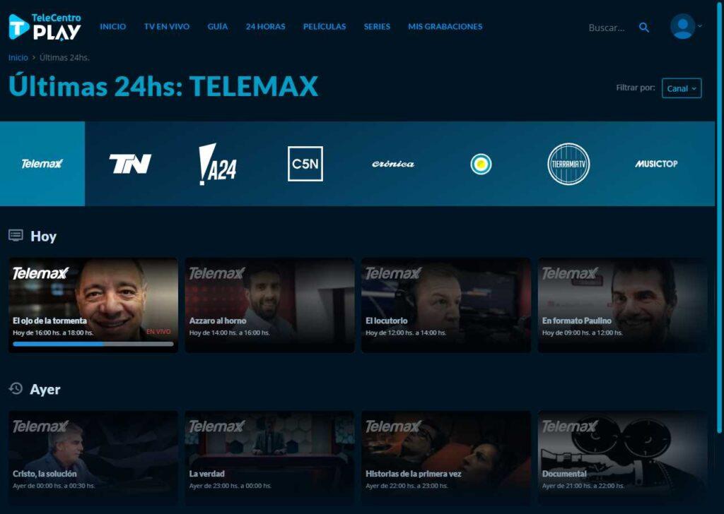 Captura de Telecentro Play para PC. Foto: Freenzy de Foro Medios
