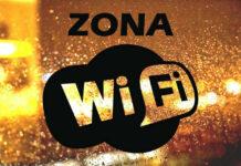Cartel de Zona Wifi Gratis.