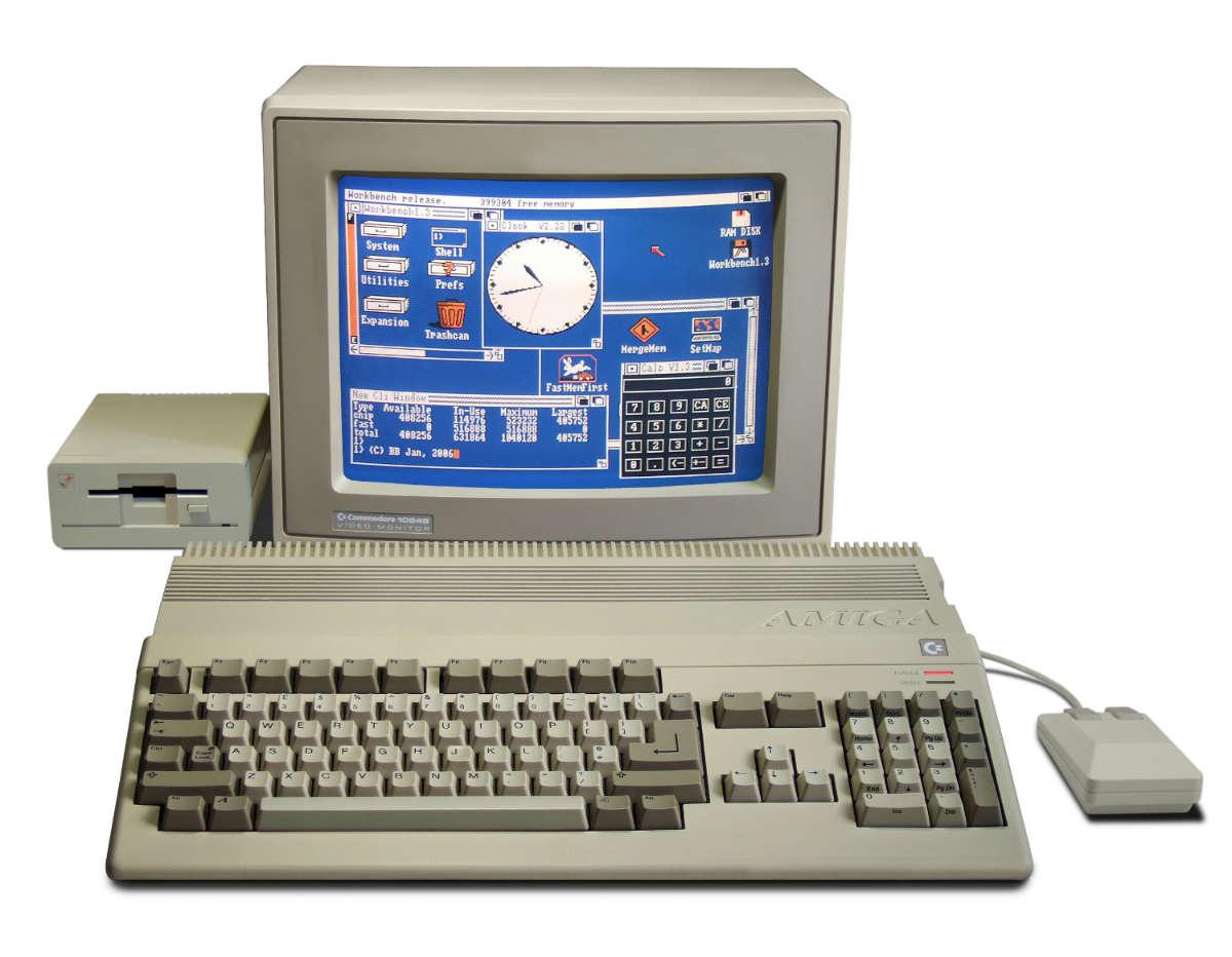 Computadora Amiga 500. Foto: Wikipedia