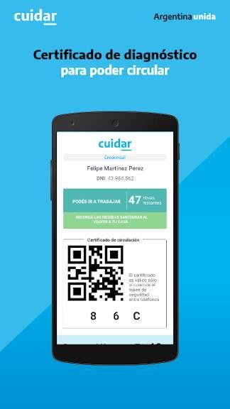 Aplicación CuidAR para Android e iOS.