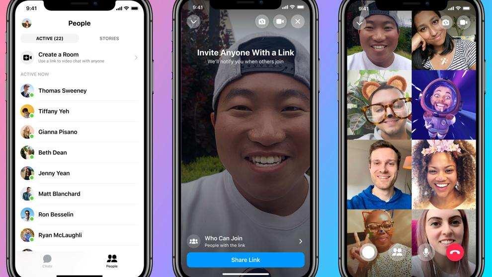 Videollamadas grupales en Whatsapp.