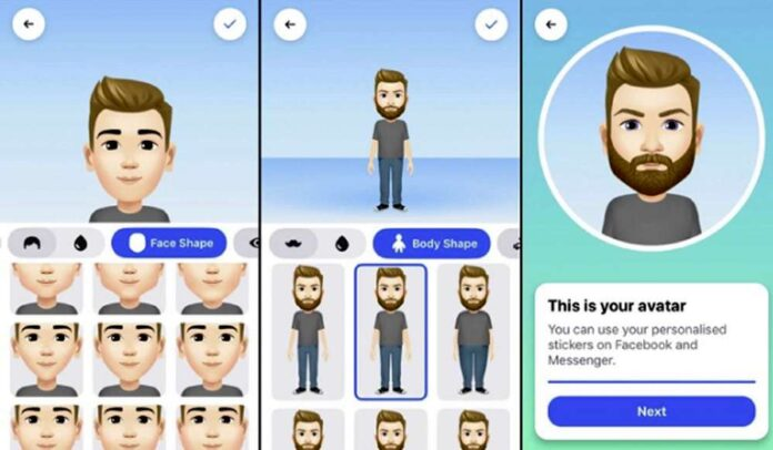 Crear tu avatar en la app de Facebook.