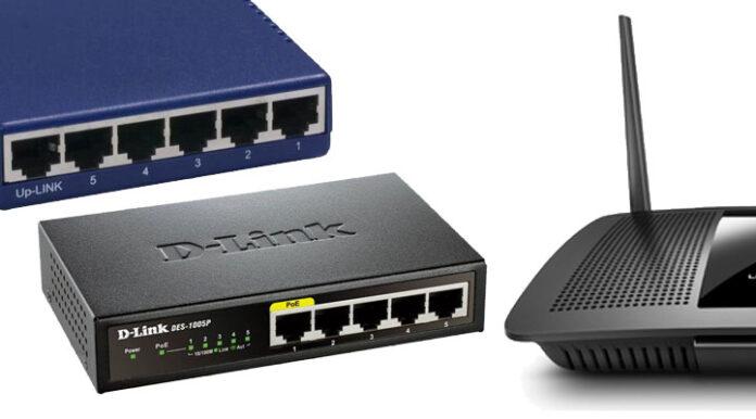 Hub vs Switch vs Router. Foto: eldestaque.com