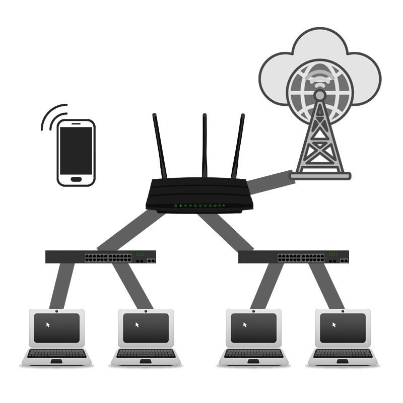 Cómo funciona un router. Foto: eldestaque.com
