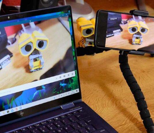 Utilizando smartphone como webcam. Foto: Muycomputer
