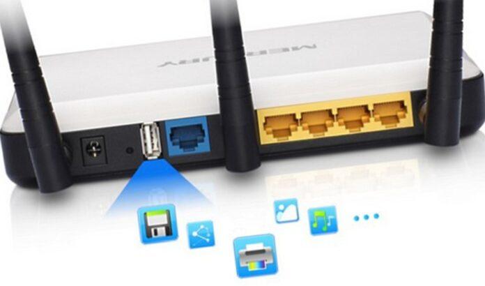 Puerto USB del router.