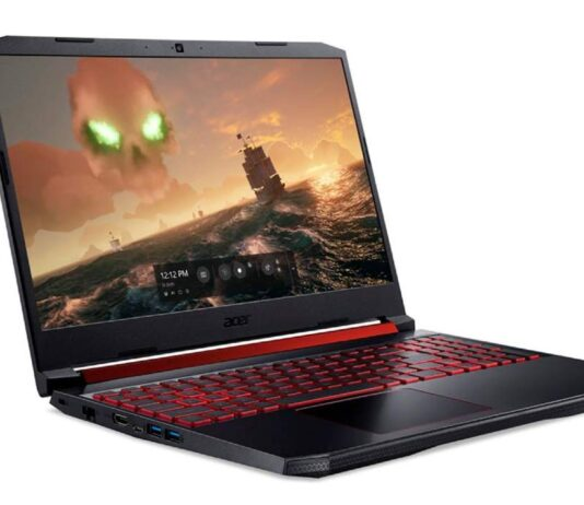 Notebook gamer Acer Nitro 5 con GeForce GTX 1650.