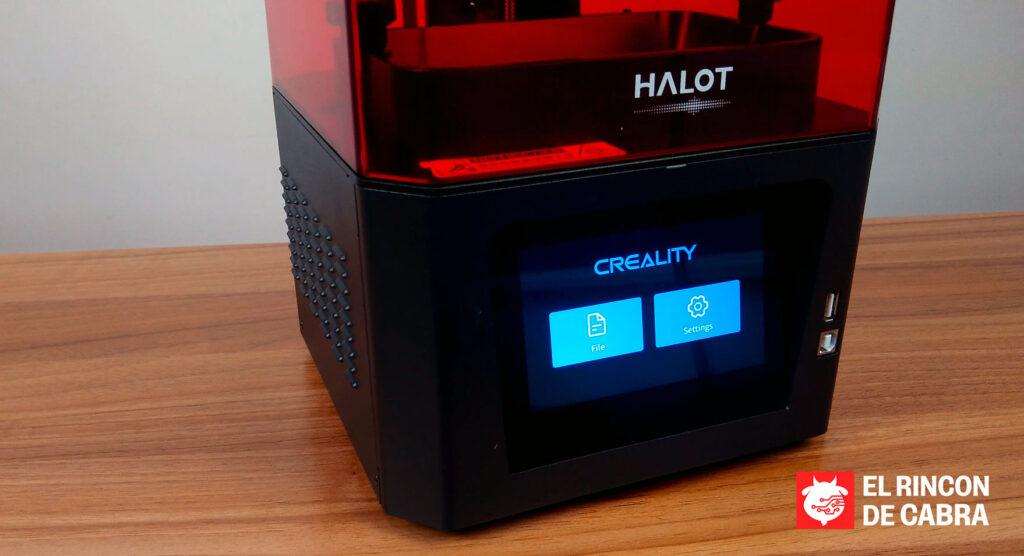 Impresora 3D en Resina, Creality Halot-One. Foto: elrincondecabra.com