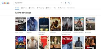 Mi lista para ver en Google.